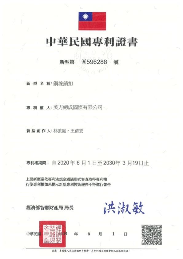 R.O.C. Patent M596288